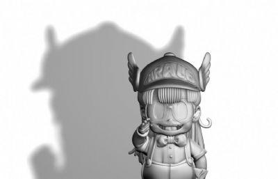 阿拉蕾maya卡通女孩模型