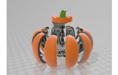 南瓜�C械蜘蛛max模型,obj�Y��模型