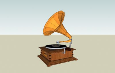留��C古老放音器su模型