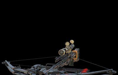 十字弩,弓弩C4D模型