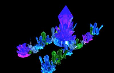 maya水晶群模型