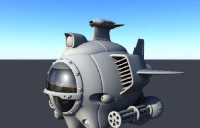 小型攻击性飞行器,飞船maya模型
