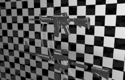 �b配M4A1步��部分拆解max模型