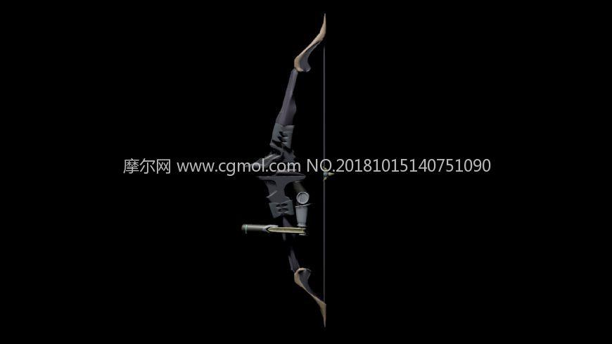 半藏 机械弓,maya弓箭模型,带材质无贴图