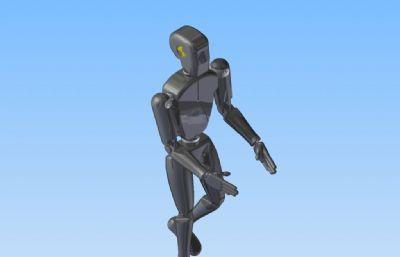 機器人管家,家庭服務機器人stl模型