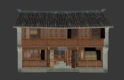�林茶�^,古代茶�^3D模型