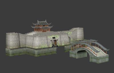 ��T,古城�Τ��3D模型