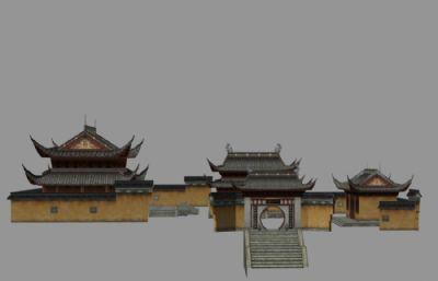 古代城隍�R3D模型