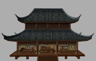得月棋社3D模型
