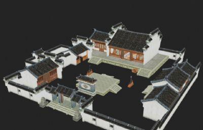 雁行�S局整�w建筑3D模型
