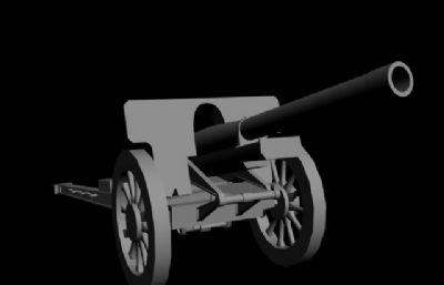 日军山炮FBX模型