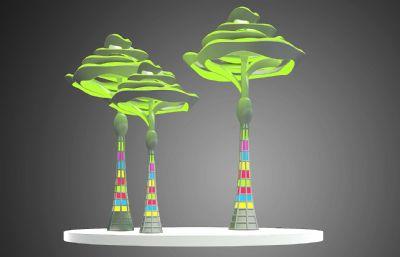 花朵形状雕塑设计