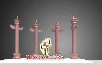 投�Y公司�A表雕塑�O�
