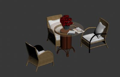 藤椅,休�e桌椅max模型,�o�N�D