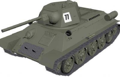 77坦克模型