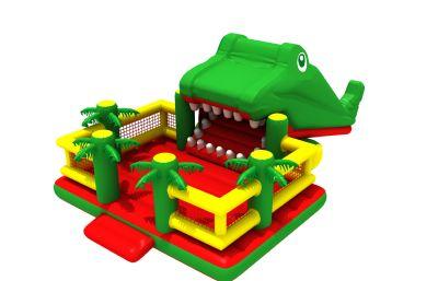 室内游乐恐龙森林充气淘气堡3D模型
