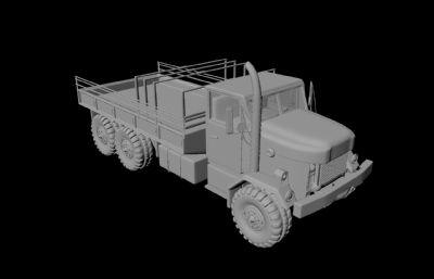 自制军事简易卡车maya模型