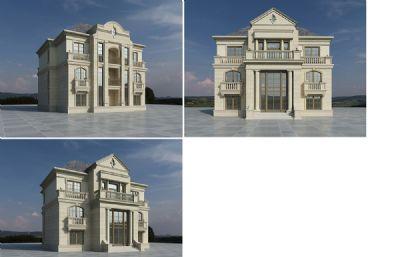 欧式私人别墅,有材质,无场景