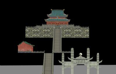 武当山古建游戏低模