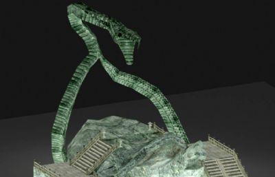 ��蛇山�w走道max模型