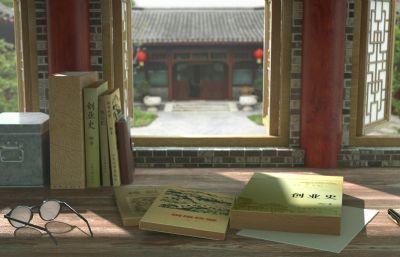 中式民���L��桌桌面,窗�_窗��鼍�