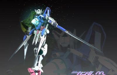 高�_零零系列能天使maya模型