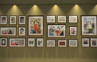 艺术馆照片墙,相框,相册场景(网盘下载)