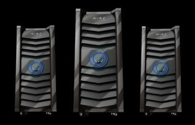 机箱,主机阵列,防护网,网络主机服务器maya模型