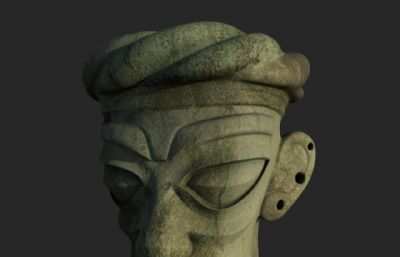 三星堆文明时期面具?#24187;�maya模型