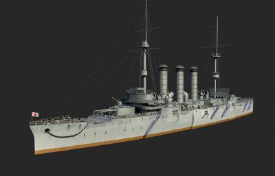 出云号战舰,巡航战舰,影视级别高模,有材质贴图,可以直?#37038;?#29992;