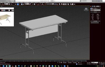 學校食堂的簡易餐桌