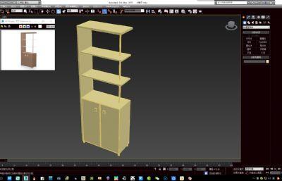 小柜,书架,酒柜max2015模型