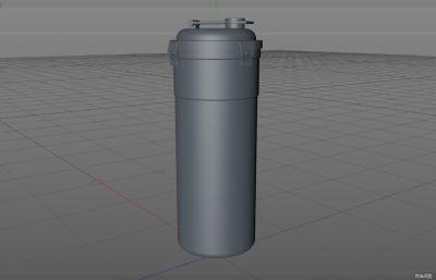 杯子.运动水杯保温杯C4D模型