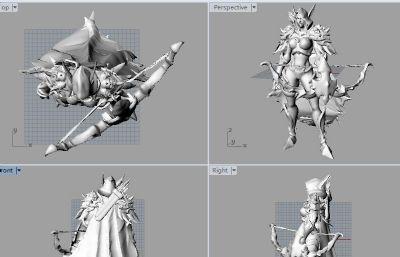 希尔瓦娜斯STL模型,3D打印