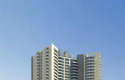 高�由唐贩�,小�^住宅max模型