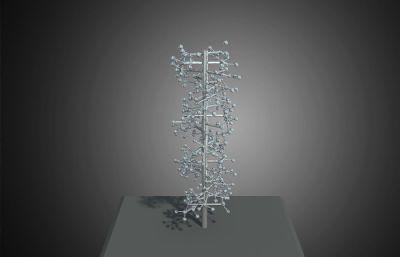 分子結構雕塑max模型