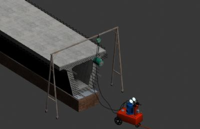 T梁張拉機器模型