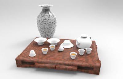 茶具一套,无材质贴图