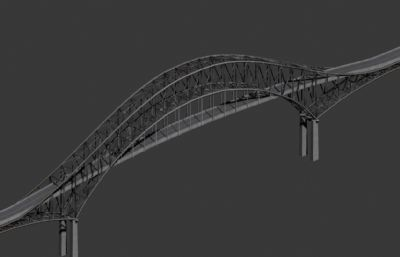 钢结构大桥,拱桥max模型
