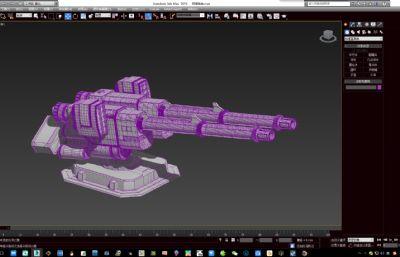 防御炮�_,防空炮主炮max模型