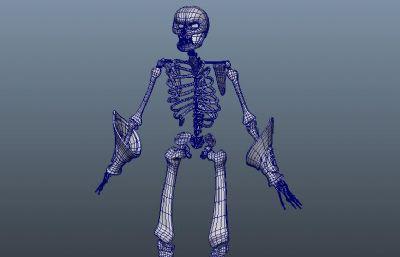 骷�t骨架Maya模型