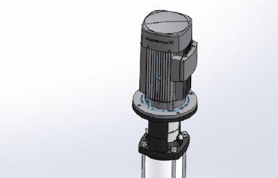 丹麦crundfos-CR10高压泵sldprt模型