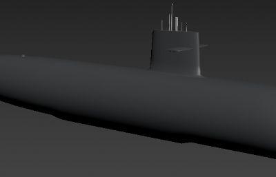 日本苍龙级常规潜艇max模型
