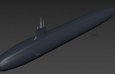 美国弗吉尼亚级核潜艇max模型