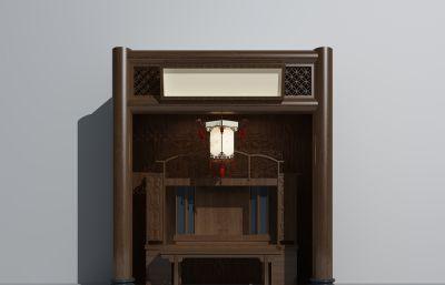 壁龛,佛龛max模型