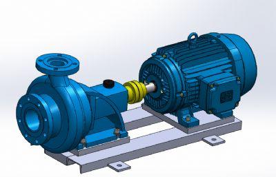 离心水泵sldprt机械模型