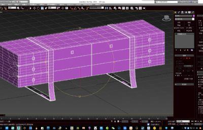 储物柜,电视柜矮柜max模型・