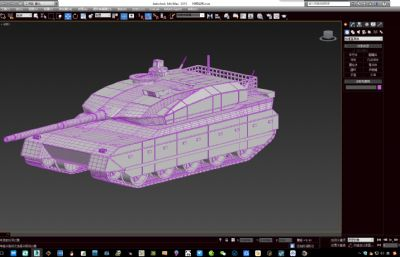 日本10式坦克max2015模型