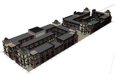 欧式居民区,购物中心设计