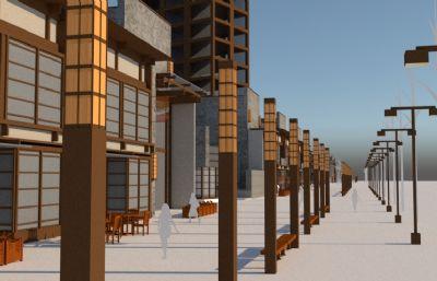 现代中式小区整体设计